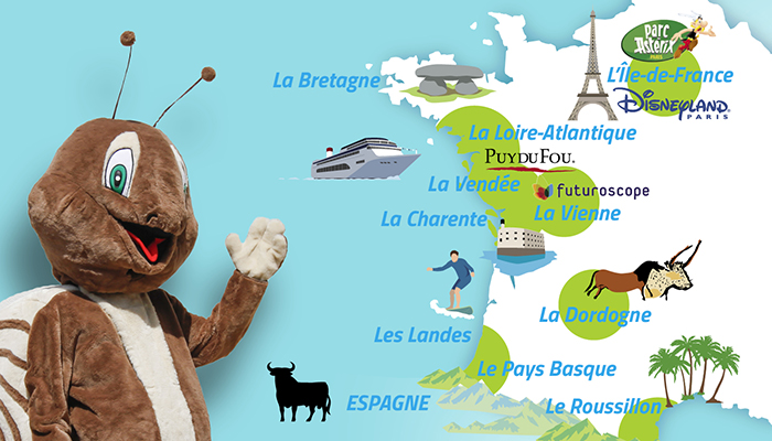 Carte destinations Oléla