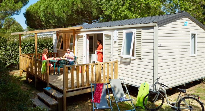 Mobil-home Famille camping Les Peupliers